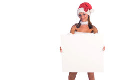 Mevr. Santa Blank Sign Stock Foto
