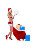 Mevr. Santa Christmas Stock Afbeeldingen