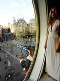 Mevrouw Tussauds-wasmuseum in Amsterdam, Holland, Nederland royalty-vrije stock afbeelding