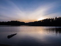 Mew Lake Snset. Mew Lake Sunset Algonquin Provincial Park Ontario Canada Stock Photos