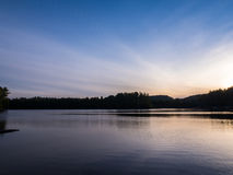 Mew Lake Snset. Mew Lake Sunset Algonquin Provincial Park Ontario Canada Royalty Free Stock Image