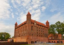 Mewe castle (XIV c.) of Teutonic Order. Gniew, Poland Stock Photography