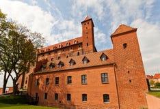 Mewe slott (XIV c ) av Teutonic beställning Gniew Polen Arkivbilder