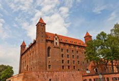 Mewe slott (XIV c ) av Teutonic beställning Gniew Polen Royaltyfri Bild