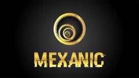 Mexanic gouden embleem EPS Stock Illustratie