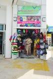Mexian纪念品店肋前缘玛雅人墨西哥 免版税图库摄影