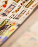 Mexicaan en andere zegels in het album royalty-vrije stock afbeeldingen