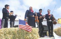 Mexicaans-Amerikaanse Vlotter in 4 de Parade van Juli, Ojai, Californië Royalty-vrije Stock Fotografie