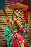 Mexicaans beeldhouwwerk van skeletten, dag van doden Stock Foto's