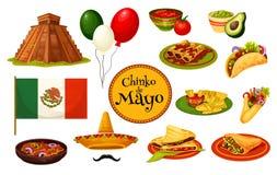 Mexicaans de vakantie traditioneel symbool van Cinco de Mayo