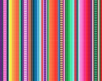 Mexicaans dekenpatroon serape strepenvector stock illustratie