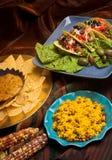 Mexicaans diner Royalty-vrije Stock Afbeeldingen