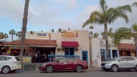 Mexicaans district bij San Diego Old Town - SAN DIEGO, de V.S. - 1 APRIL, 2019 stock videobeelden