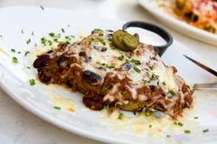 Mexicaans gehakt Vlees met gesmolten kaas Stock Foto