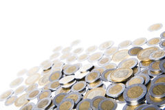 Mexicaans geld op wit Royalty-vrije Stock Afbeelding