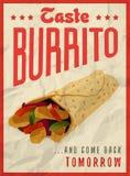 Mexicaans het ontwerpconcept van de burritoaffiche Royalty-vrije Stock Afbeeldingen