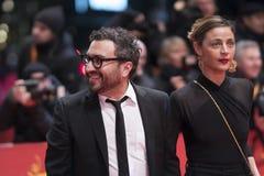 Mexicaans Ilse Salas en Alonso Ruizpalacios tijdens Berlinale 2018 stock fotografie
