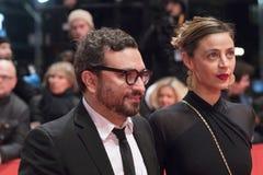 Mexicaans Ilse Salas en Alonso Ruizpalacios tijdens Berlinale 2018 stock foto