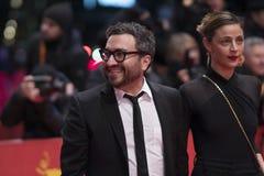 Mexicaans Ilse Salas en Alonso Ruizpalacios tijdens Berlinale 2018 royalty-vrije stock afbeeldingen