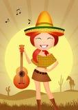 Mexicaans meisje vector illustratie