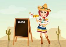 Mexicaans menu stock illustratie