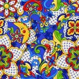 Mexicaans naadloos patroon stock illustratie