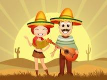 Mexicaans Paar stock illustratie