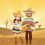 Mexicaans Paar vector illustratie