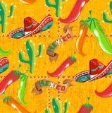 Mexicaans pictogrammenpatroon stock illustratie