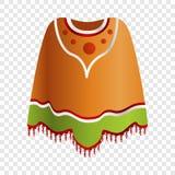 Mexicaans ponchopictogram, beeldverhaalstijl royalty-vrije illustratie