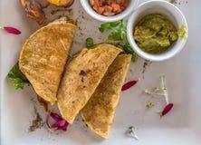 Mexicaans quesadillaontbijt met weegbree Royalty-vrije Stock Fotografie