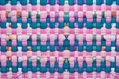 Mexicaans roze stoffenpatroon HANDCRAFTED stock afbeelding