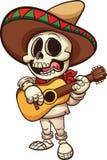 Mexicaans skelet stock illustratie