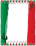 Mexicaans Spaans Achtergrondvliegermalplaatje Stock Foto
