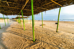 Mexicaans Strand Palapa Stock Foto