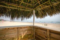 Mexicaans Strand Palapa Stock Afbeeldingen