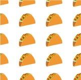 Mexicaans taco vector naadloos patroon Royalty-vrije Stock Afbeeldingen