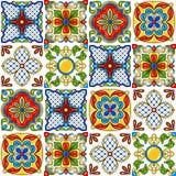 Mexicaans talavera keramische tegelpatroon royalty-vrije illustratie