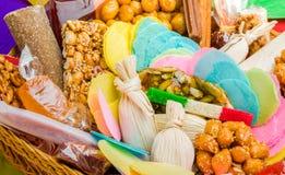 Mexicaans traditioneel artisanaal met de hand geproduceerd suikergoed royalty-vrije stock afbeelding