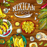 Mexicaans voedsel stock illustratie