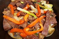 Mexicaans Voedsel Fried Cecina Royalty-vrije Stock Afbeeldingen