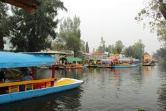 Mexicaans waterdistrict van Xochimilco Royalty-vrije Stock Afbeelding