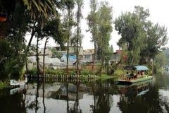 Mexicaans waterdistrict van Xochimilco Royalty-vrije Stock Foto