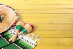 Mexicaanse achtergrond met copyspace Royalty-vrije Stock Afbeeldingen