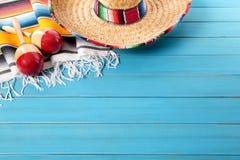 Mexicaanse achtergrond met copyspace Stock Afbeelding