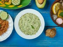 Mexicaanse Avocado Salsa Verde Royalty-vrije Stock Afbeeldingen