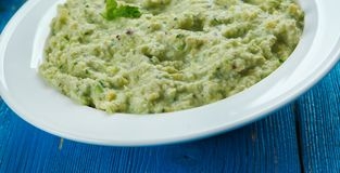 Mexicaanse Avocado Salsa Verde Stock Foto's