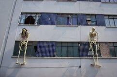 Mexicaanse beeldhouwwerken van skeletten, dag van doden, Mexico-City Stock Foto