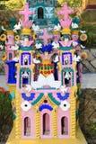 Mexicaanse Begraafplaats in Xcaret-Park, het Schiereiland van Yucatan royalty-vrije stock foto