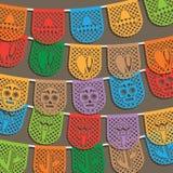 Mexicaanse bunting decoratie Stock Afbeelding